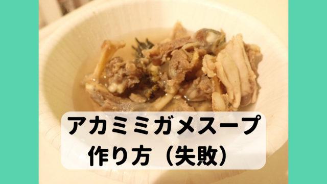ミシシッピアカミミガメ ミドリガメ スープ 食べ方