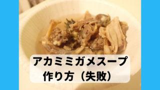 ミシシッピアカミミガメ 食べ方 スープ