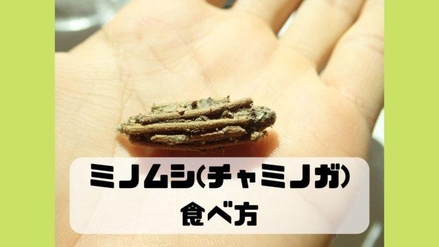 ミノムシ チャミノガ 食べ方 味 レシピ